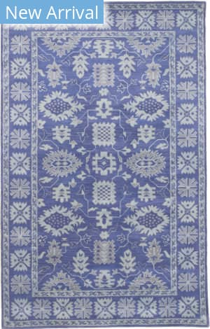 Eastern Rugs Overdyed Ie85bl Blue Area Rug