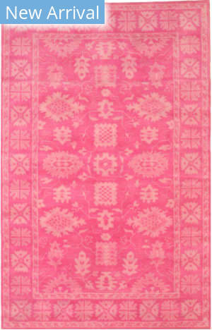 Eastern Rugs Overdyed Ie85pk Pink Area Rug