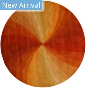 Eastern Rugs Swirl T66rd Orange Area Rug
