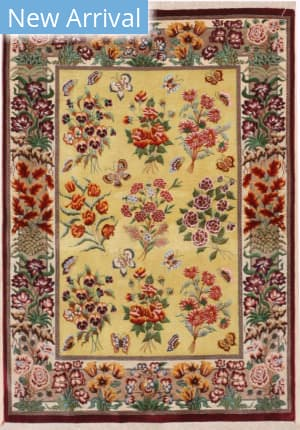 Eastern Rugs Qum X36016 Gold Area Rug