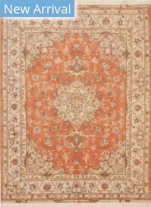 Eastern Rugs Tabriz X36206 Orange Area Rug