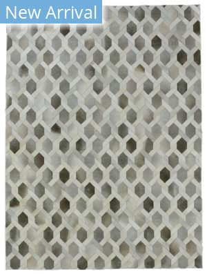 Exquisite Rugs Natural Hair on Hide Gray - Silver Area Rug