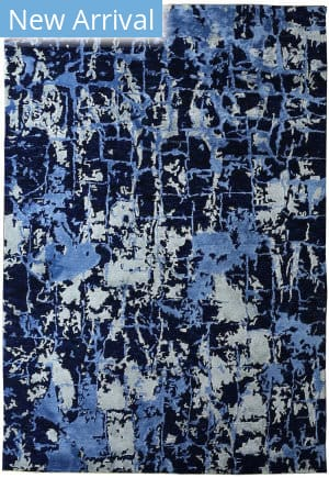 Exquisite Rugs Cecily Hand Knotted Dark Blue Area Rug