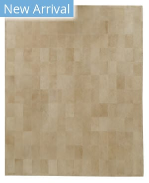 Exquisite Rugs Leather Suede Hair on Hide Beige Area Rug