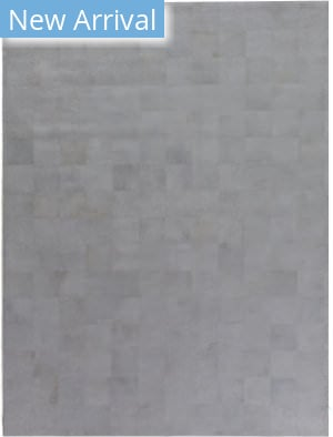 Exquisite Rugs Leather Suede Hair on Hide Silver - Ivory Area Rug