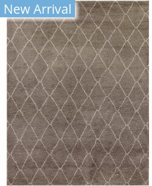 Exquisite Rugs Moroccan Hand Knotted Gray Area Rug