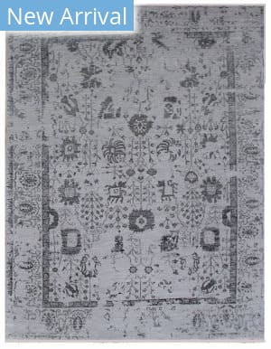 Exquisite Rugs Lexington Hand Knotted Silver - Black Area Rug