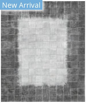 Exquisite Rugs Granite Hide Hand Stitched 2393 Silver Area Rug