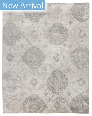 Exquisite Rugs Antique'd Silk Hand Knotted 2431 Beige - Ivory Area Rug