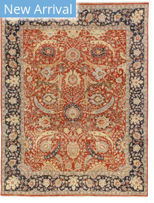 Exquisite Rugs Serapi Hand Knotted Rust Area Rug