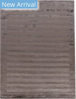 Exquisite Rugs Panel Stripe Hand Woven Dark Gray Area Rug