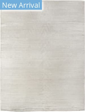 Exquisite Rugs Wave Hand Woven White Area Rug