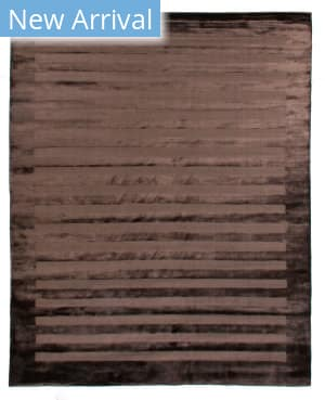Exquisite Rugs Panel Stripe Hand Woven Chocolate Area Rug