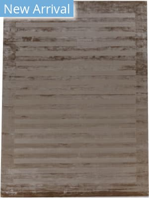 Exquisite Rugs Panel Stripe Hand Woven Taupe Area Rug