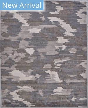 Exquisite Rugs Bamboo Silk Hand Knotted Ivory - Silver Area Rug