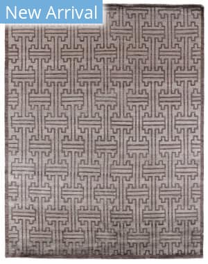 Exquisite Rugs Ikat Hand Knotted Dark Gray Area Rug