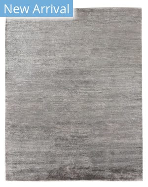 Exquisite Rugs Crush Hand Knotted 3301 Silver - Dark Silver Area Rug