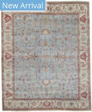 Exquisite Rugs Serapi Hand Knotted Light Blue - Ivory Area Rug