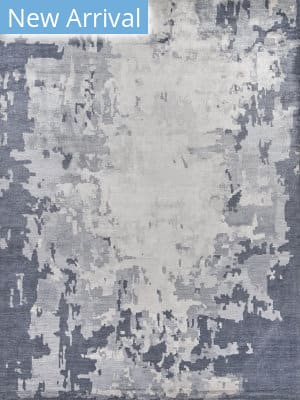 Exquisite Rugs Abstract Expressions Hand Knotted Blue - Dark Gray Area Rug