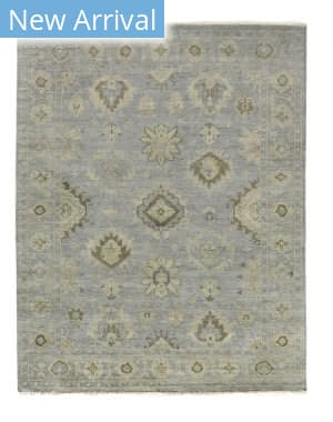 Exquisite Rugs Oushak Hand Knotted Blue - Gray Area Rug