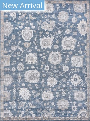 Exquisite Rugs Museum Hand Knotted Navy - Beige Area Rug
