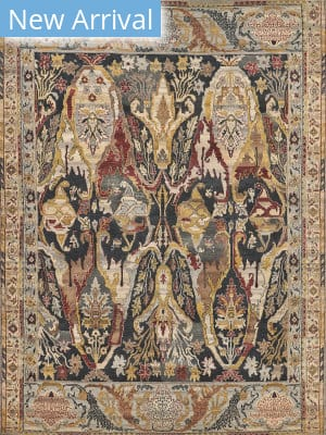 Exquisite Rugs Jurassic Hand Knotted Black - Beige Area Rug
