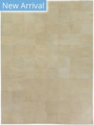 Exquisite Rugs Distressed Suede Hair on Hide Ivory Area Rug