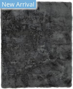 Exquisite Rugs Royal Sheepskin Shag Dark Gray Area Rug