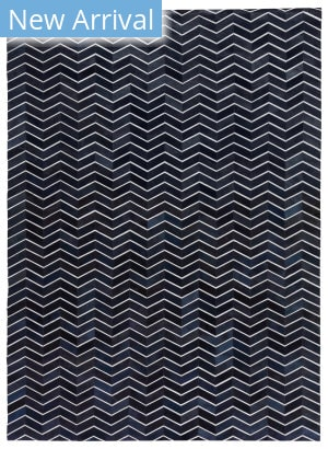 Exquisite Rugs Natural Hide Hand Woven 3921 Blue Area Rug