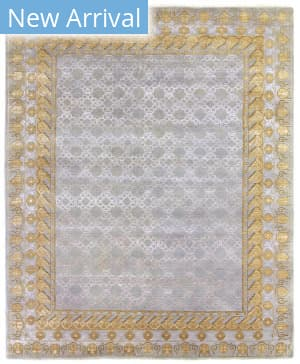 Exquisite Rugs Khotan Hand Knotted Gray - Gold Area Rug