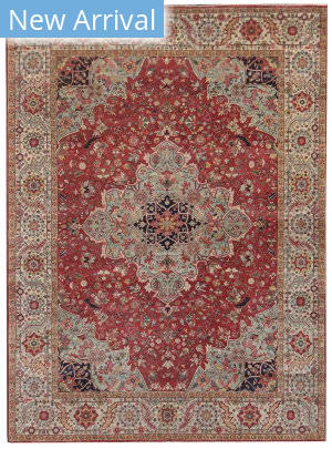 Exquisite Rugs Fine Serapi Hand Knotted Dark Red Area Rug
