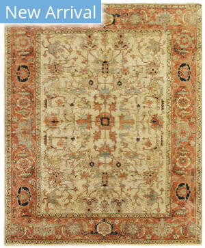 Exquisite Rugs Serapi Hand Knotted Ivory - Red Area Rug