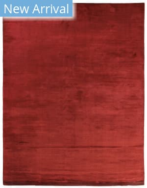 Exquisite Rugs Courduroy Hand Woven Red Area Rug