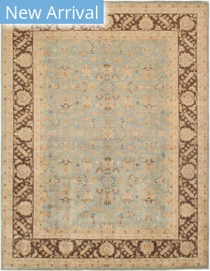 Famous Maker Sultanabad 38508 Light Blue - Brown Area Rug