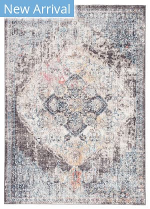 Famous Maker Ostia Trix Ost-1070 Black - Blue Area Rug