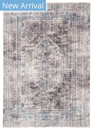 Famous Maker Ostia Naos Ost-1080 Black - Blue Area Rug