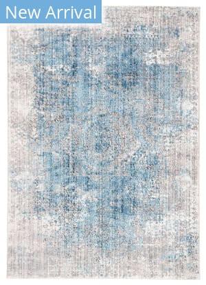 Famous Maker Ostia Kaus Ost-1090 Blue - Light Gray Area Rug