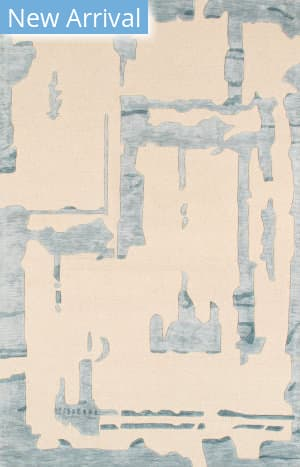 Famous Maker Transitional Pbw-3spl Ivory - Aqua Area Rug