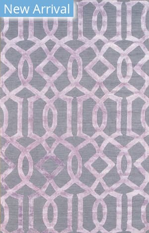 Famous Maker Transitional Pbw-785b Grey - Purple Area Rug