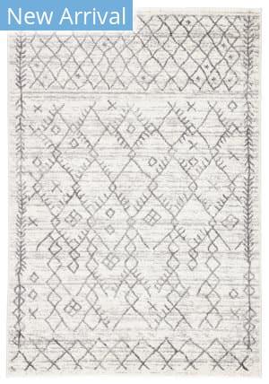 Famous Maker Valarie Apana Val-1040 White - Light Gray Area Rug