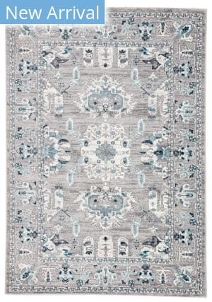 Famous Maker Valarie Freyr Val-1060 Light Gray - Turquoise Area Rug