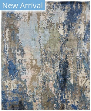Famous Maker Zara 100515 Blues Area Rug