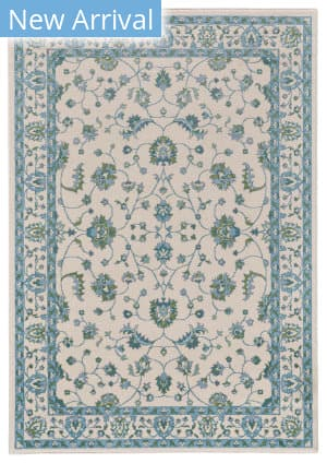 Feizy Burley I3262 Cotton - Aqua Area Rug