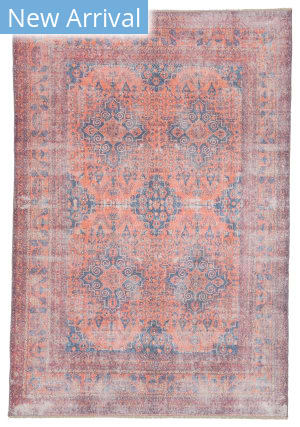 Jaipur Living Boheme Menowin Boh06 Orange - Blue Area Rug