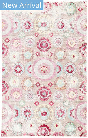 Rugstudio Sample Sale 158226R Macaroon and Aqua Haze Area Rug