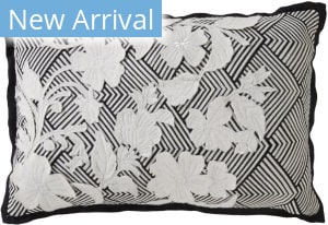 Jaipur Living Cosmic By Nikki Chu Pillow Kinnette Cnk16 White - Black Area Rug