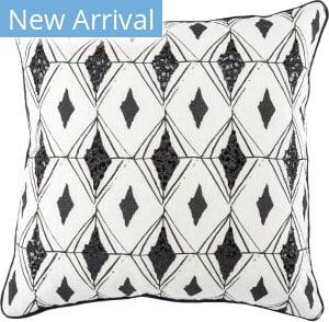 Jaipur Living Cosmic By Nikki Chu Pillow Tallin Cnk36 White - Black Area Rug