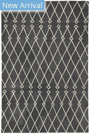 Jaipur Living Fusion Desenio Fn61 Dark Gray - White Area Rug