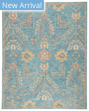 Jaipur Living Province Juniper Pro02 Teal - Orange Area Rug