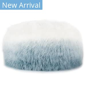 Jaipur Living Ultra By Nikki Chu Pouf Istria Unk05 White - Light Blue